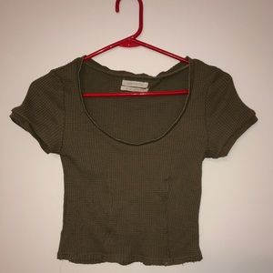 Urban outfitters cropped waffle tee